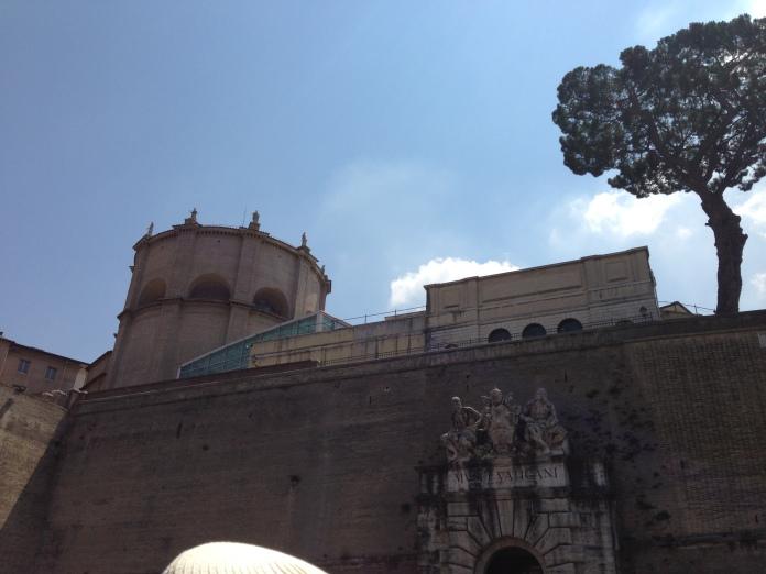 Outside the Vatican walls.