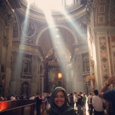 Gypsy Girl inside the Basilica! (Me)